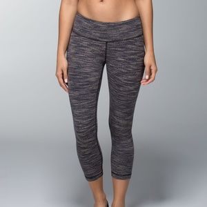 Lululemon Wunder Under Luon Crop Size 2